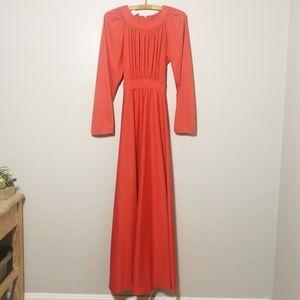 Vintage 1970's Long Sleeve Maxi Dress
